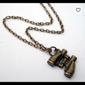 Binocular Charm Necklace for sale